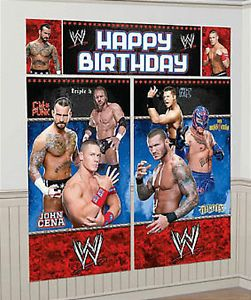 WWE John Cena Birthday Party Giant Scene Setter | eBay Online Price: $6.19 + $2.49 shipping
