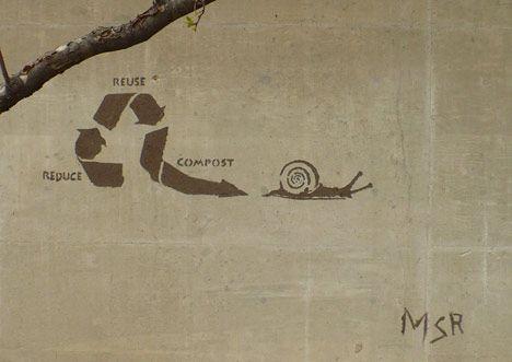 Stencils and Mud Make for Artful Eco Graffiti : TreeHugger