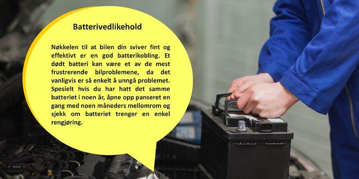 Det er ofte vanskeligere for batteriet å fungere i kaldt vær enn det er for et batteri å fungere i varmt vær. Resultatet av det er at et batteri som så vidt fungerer svakt om sommeren, kan ende opp dødt i løpet av vinteren. Få en spenningstest utført på batteriet regelmessig før vinteren kommer. #acrens