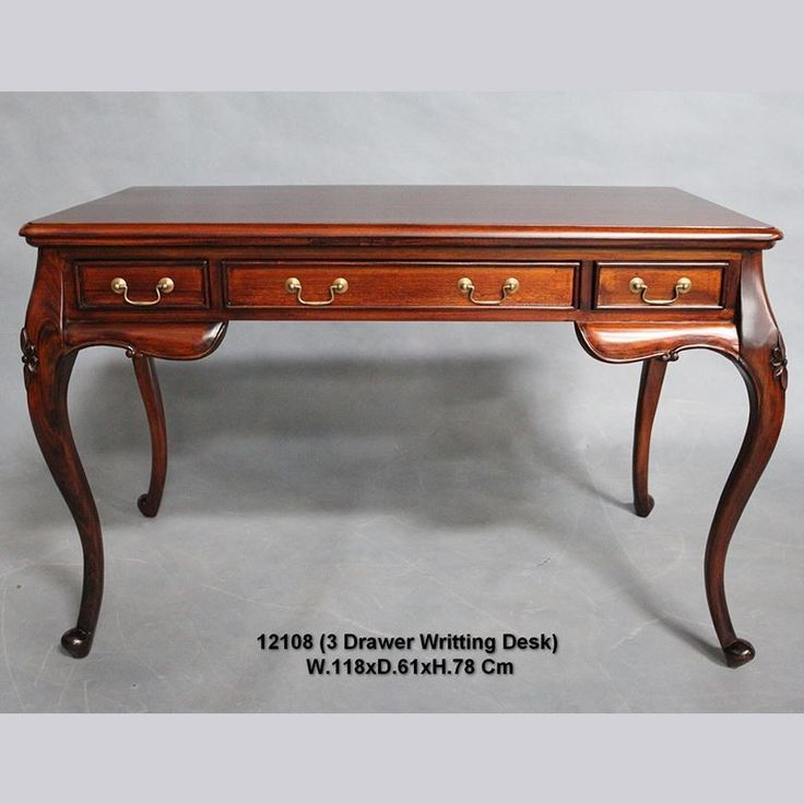Antique Style Solid Mahogany Wood French provincial style desk