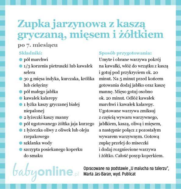 Przepisy dla niemowlaka - Zupki dla niemowlaka   Strona 13   Baby online
