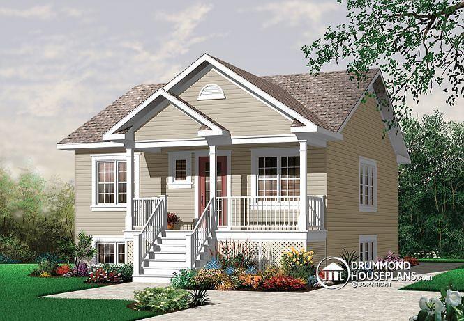 Front Elevation Of Verandah : W economical bedroom bungalow with kitchen island