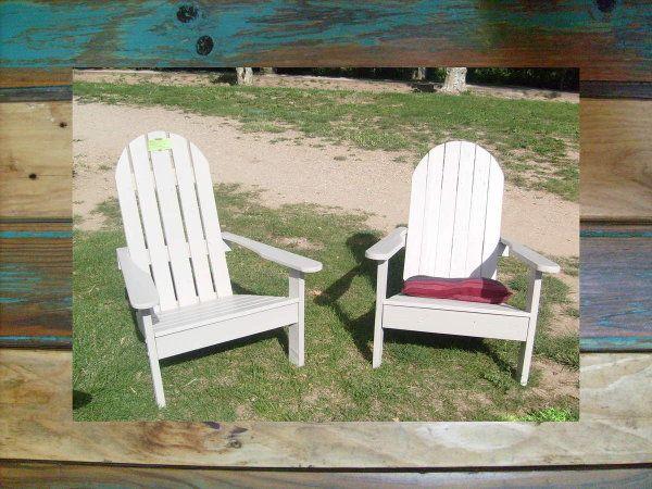 Sympa la transformation des palettes en fauteuil style Adirondack