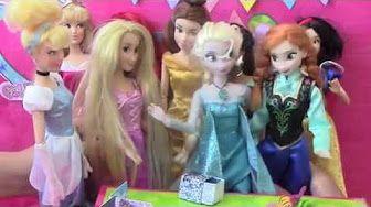 Mermaid Frozen Stories Play Doh berbie perinces Barbie Princess Ariel Surprise Eggs Elsa Anna Story - YouTube