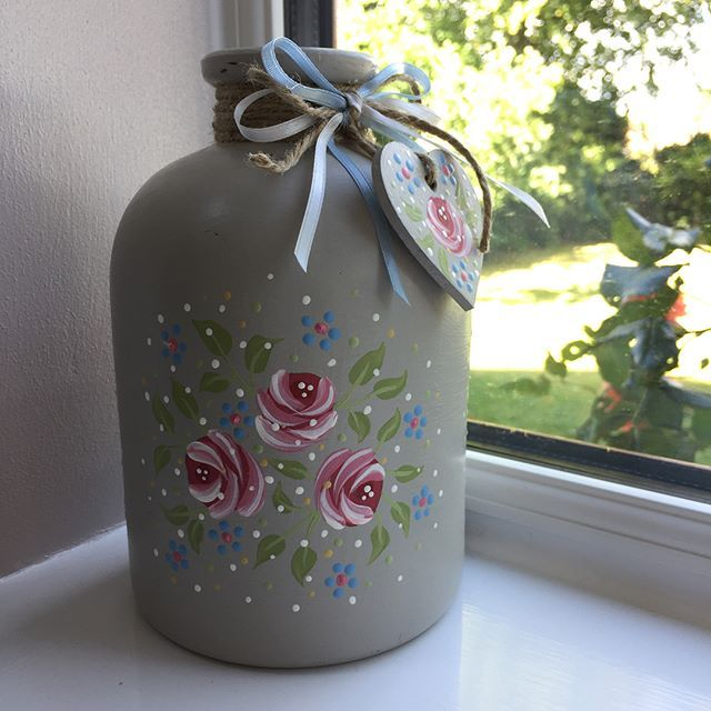 #folkit #vintagerose #pinkroses #twine #ribbon #garden #charm #distressed #dotty #americanadecor #americanaacrylicpaint #folkitcraft #cute #summer #spring #craft #Regram via @k_jackson1303