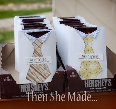 """""""You're 'Tie'rific"""" Craft/Snack - Father's Day Crafts {Simple and Sweet} #fathersday #hersheys #ties #crafts"""