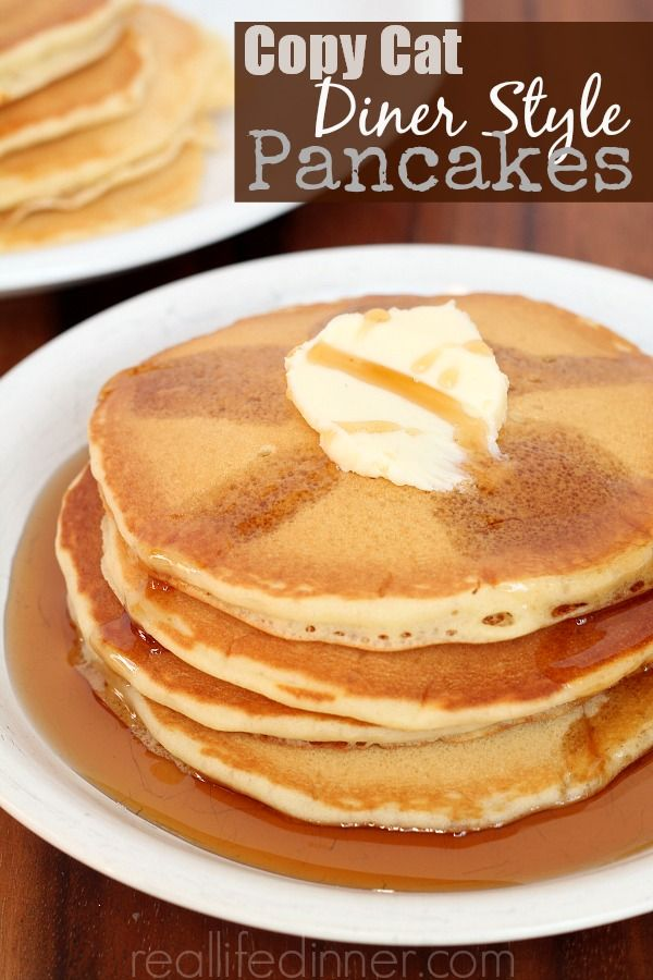 Copy Cat Diner Style Pancakes. I searched forever to find a recipe like this. They are the Best Diner Copycat Pancakes I