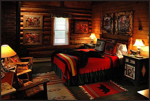 Wisconsin Inn with log cabins.