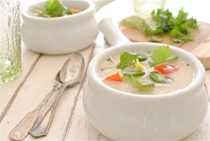 Slow Cooker Thai Chicken Noodle Soup (on #restdays I skip the noodles)