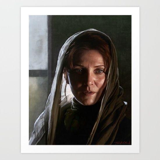 Noble Woman of the North by Lensebender..  #got #gameofthrones #houseofstark #stark #tully #michellefairley #catelynstark #jonsnow #hbo #fantasy #medieval #woman #lady #movies #tv #people #acting #dark #tvseries