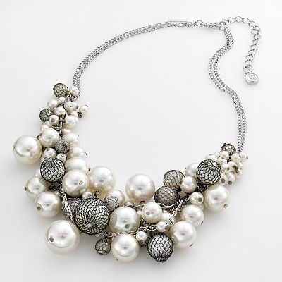 Simply Vera Vera Wang Silver-Tone Cluster Necklace