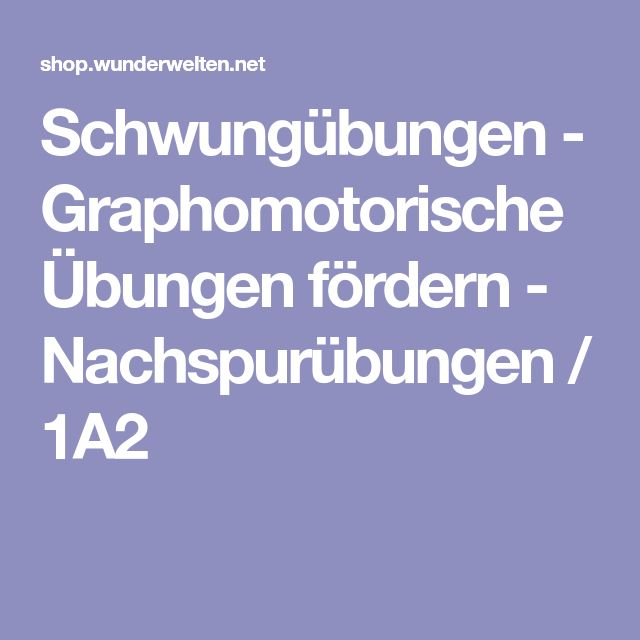 schwung bungen graphomotorische bungen f rdern nachspur bungen 1a2 schwung bungen stift. Black Bedroom Furniture Sets. Home Design Ideas