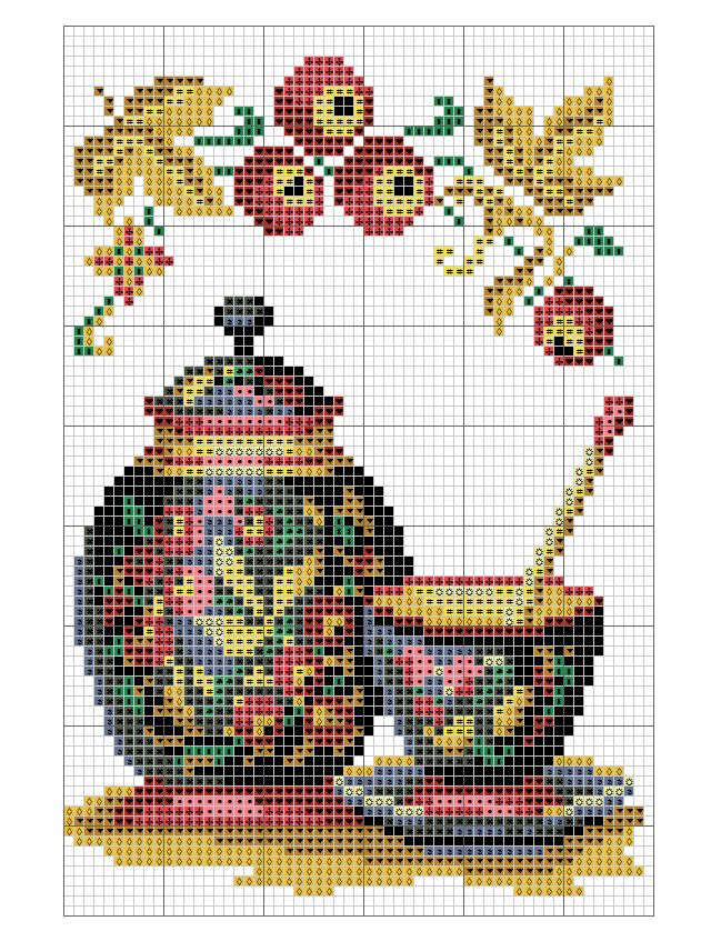 This is a miniature cross stitch chart / cross stitch pattern, but may also be…