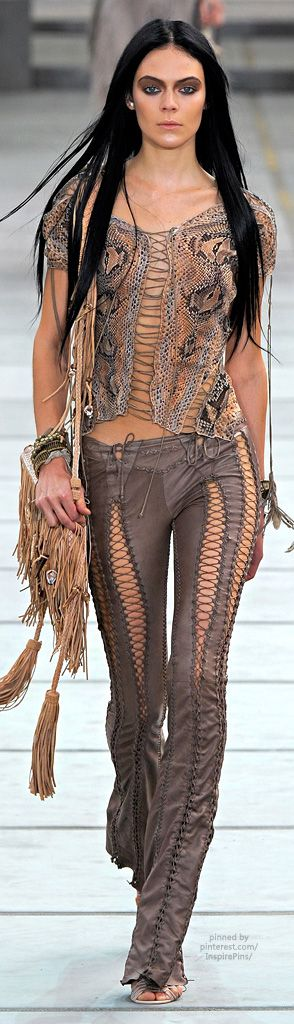 Roberto Cavalli, someone has to wear these pants. Not me, but someone. Please.