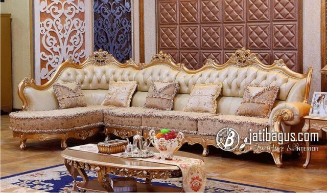 Model Set sofa sudut luxury luxe trend