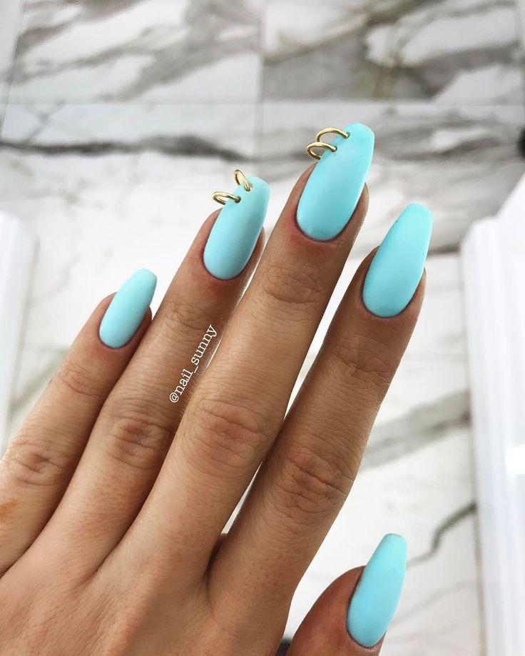 """piercings nails ⚡️⚡️⚡️ Punk style mood by @eleonoramovs and @nail_sunny ⚡️ ну что, мода возвращается? Форма ногтей (натуральные ногти!) COFFIN или Балерина , Пирсинг и Кольца на ноготях -100₽ покрытие цвет под Tiffany OPIGELCOLOR """"Gelato on my mind"""" #nailsunnytutorial #nailsunny #follownailsunny мастер Нина, Новинский бульвар 1/2 8-919-7777-2-79 стоимость: УКРЕПЛЕНИЕ базой 150₽, маникюр аппаратный500₽, покрытие opigelcolor 1100₽, пирсинг 100₽ = 2150₽ #nailsunnytutorial #nailsunny #f..."""