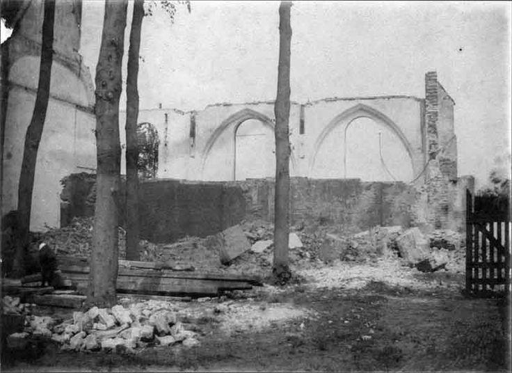 Sloop oude toren kerkgebouw in 1912.. ik herinner het me nog als den dagh van gister!