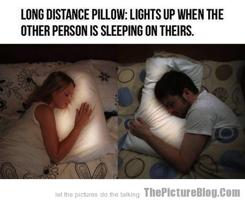 Long Distance Pillow Lights Up When Other Person Is Sleeping On Theirs |  A... | Pinterest | Long Distance, Distance And Pillows Design