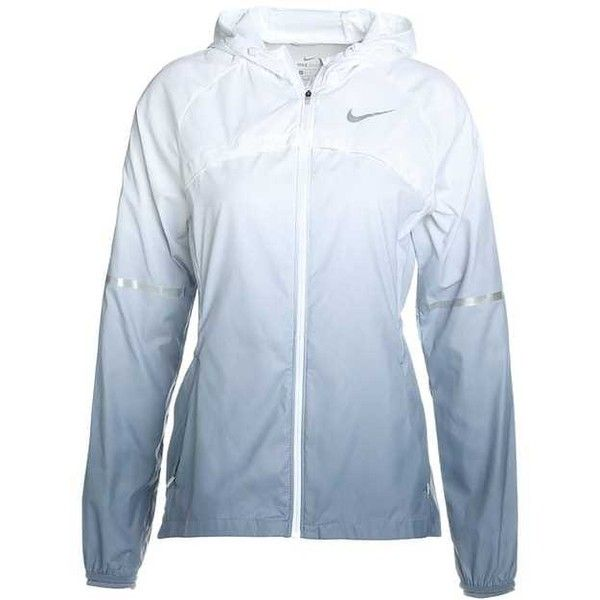 Nike Performance SHIELD HOODED PRISM Sports jacket ($86) ❤ liked on Polyvore featuring activewear, activewear jackets, nike, sports activewear, nike sportswear and nike activewear