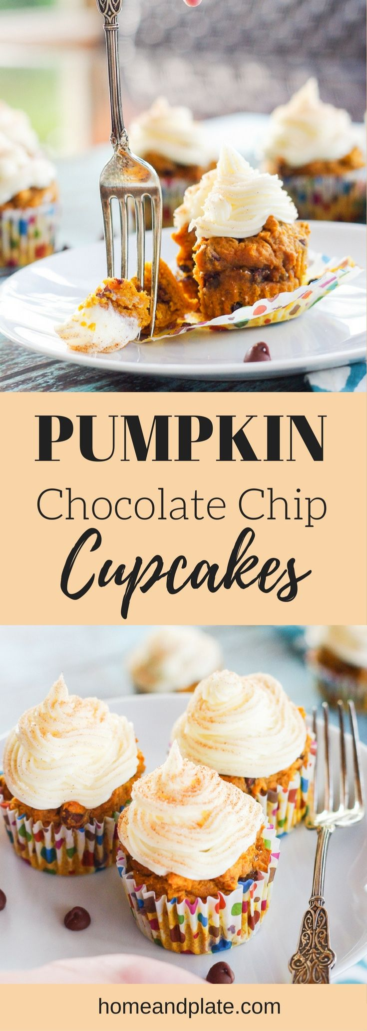 Pumpkin Chocolate Chip Cupcakes | Delicious for fa…