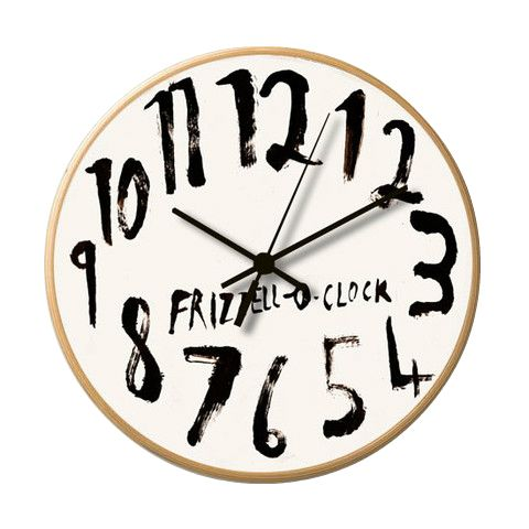 Wooden Frame Clock featuring an exclusive design by Dick Frizzell.
