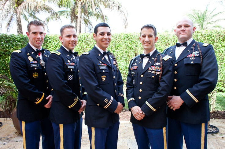 army love, groomsmen. Photography by teranphotography.com, Floral   Event Design by joelpatrickstudios.com