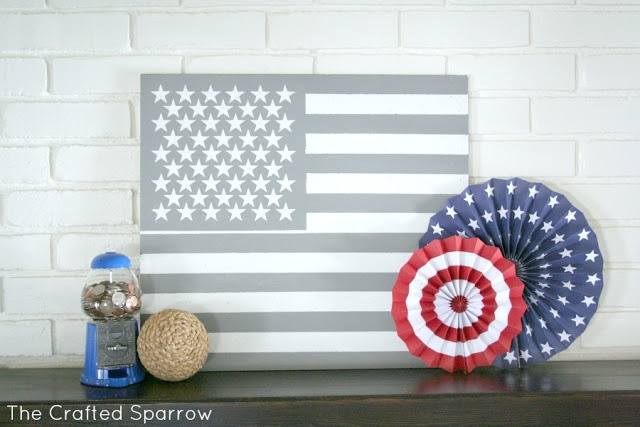 The Crafted Sparrow: American Flag Art