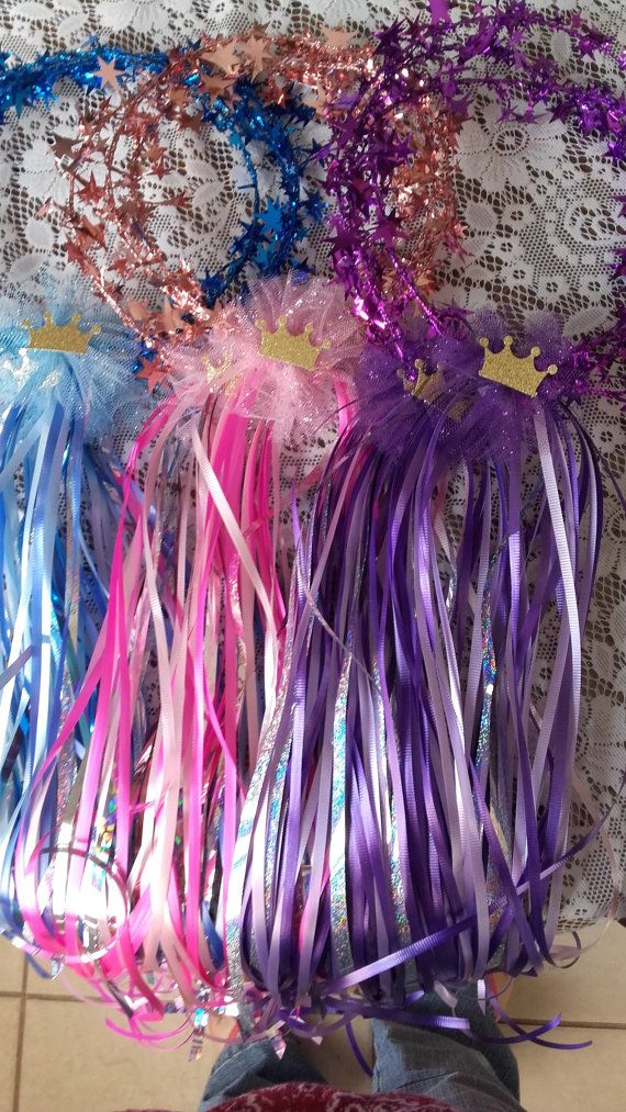Use these for VBS 2017 craft for 4th - 6th grade girls. Use CROSS image instead of crown. 40-50 strands of ribbon to make it this full