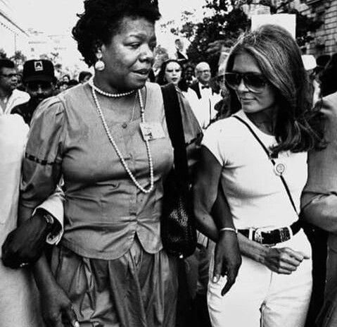 Maya Angelou and Gloria Steinman