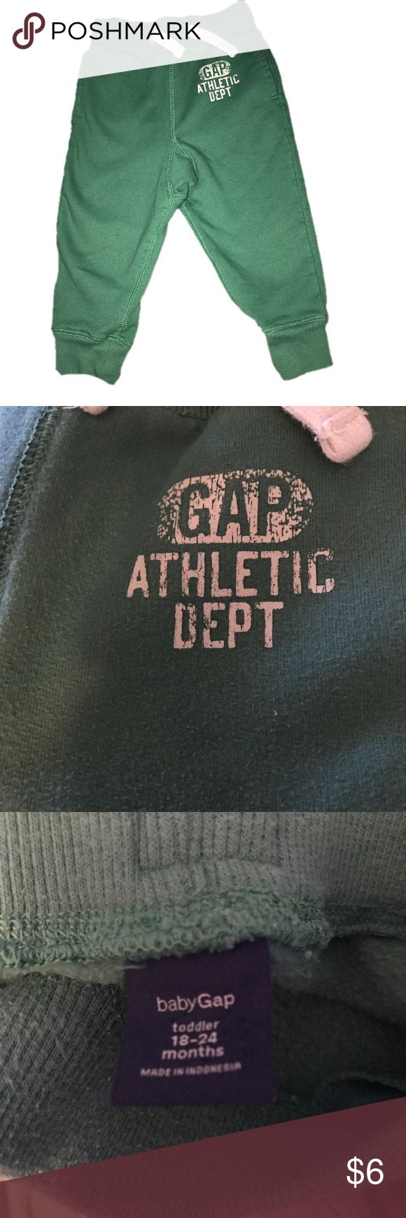 ⭐️Baby Gap 18-24 Mo Pale Green Sweat Pants Baby Gap 18-24 Mo Pale Green Sweat Pants . In good condition. Has fade and pills. Soft on the inside. Purchased with more of a rustic green look originally. (Bag 199) GAP Bottoms Sweatpants & Joggers