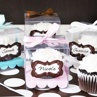 Cupcake Favor Boxes (Set of 12)
