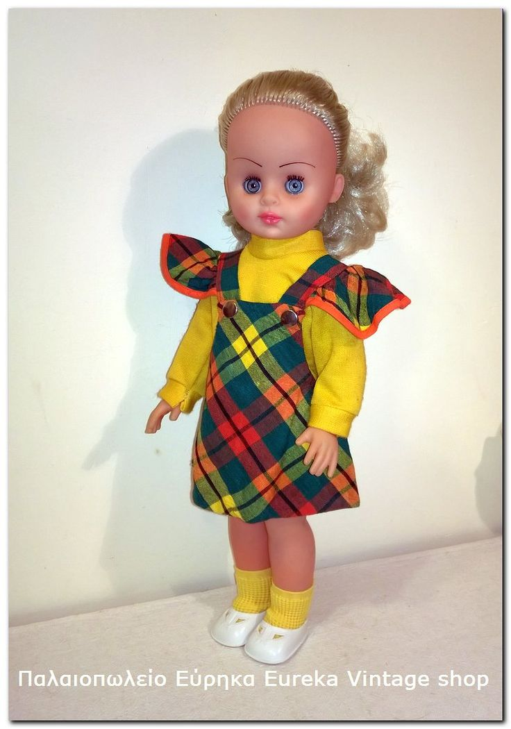 1970's κούκλα από την ελληνική εταιρία Plastimol.  Είναι σε πολύ καλή κατάσταση με φυσιολογική χρήση. Πολύ όμορφα και εντυπωσιακά ντυμένη.  Ύψος 39εκ.