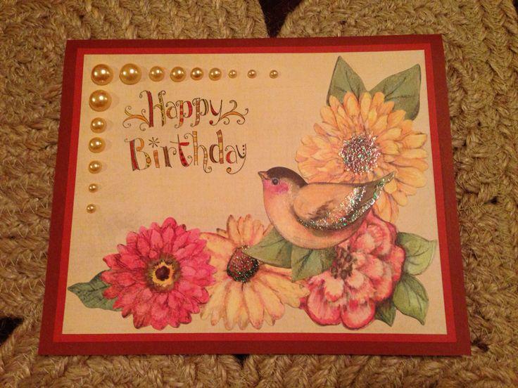 Birthday card bird 2
