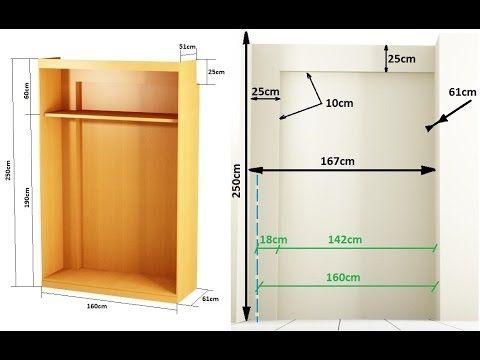 Como hacer un armario empotrado entre paredes youtube videos youtube pinterest wood wood - Como hacer armario empotrado ...