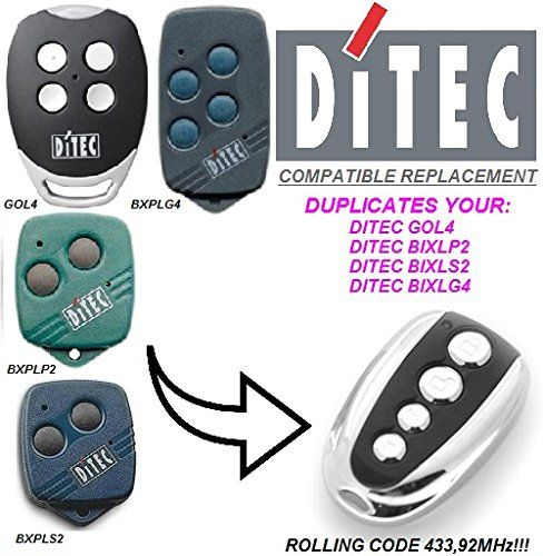 Ditec GOL4 compatible CLONE remote control replacement transmitter, 433,92Mhz rolling code clone!!!
