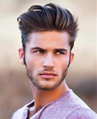Men's graduation haircut, active level 5 with level 8 highlights, Redkens mens product firm grasp, texturizing clay, 4-6 wks.