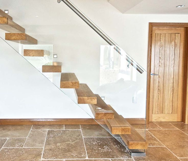 Cantilevered Staircase With Chunky Timber Treads From Bisca