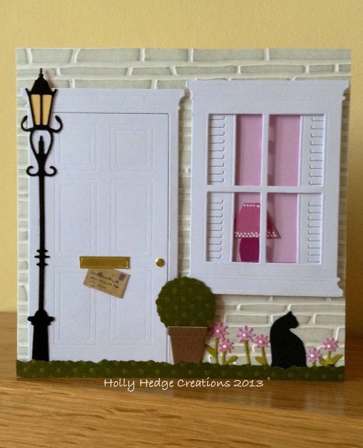 Memory Box & Poppy Stamp dies: New Home - not thought of putting the shutters underneath :)