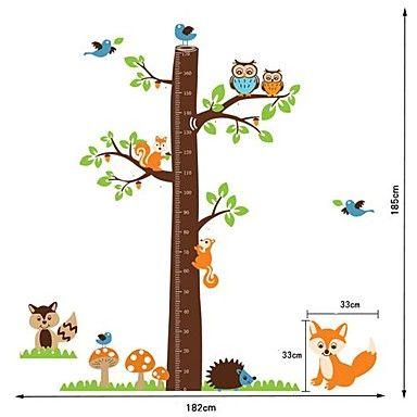Createforlife ® Cartoon Tree Hoogte Grafiek Kids Kinderkamer Muurstickers Wall Art Decals - EUR € 15.50