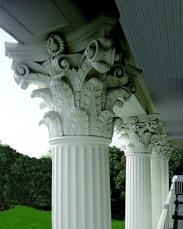 Architectural columns roman corinthian capitals cast for Architectural wood columns