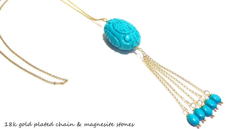Long turquoise necklace!