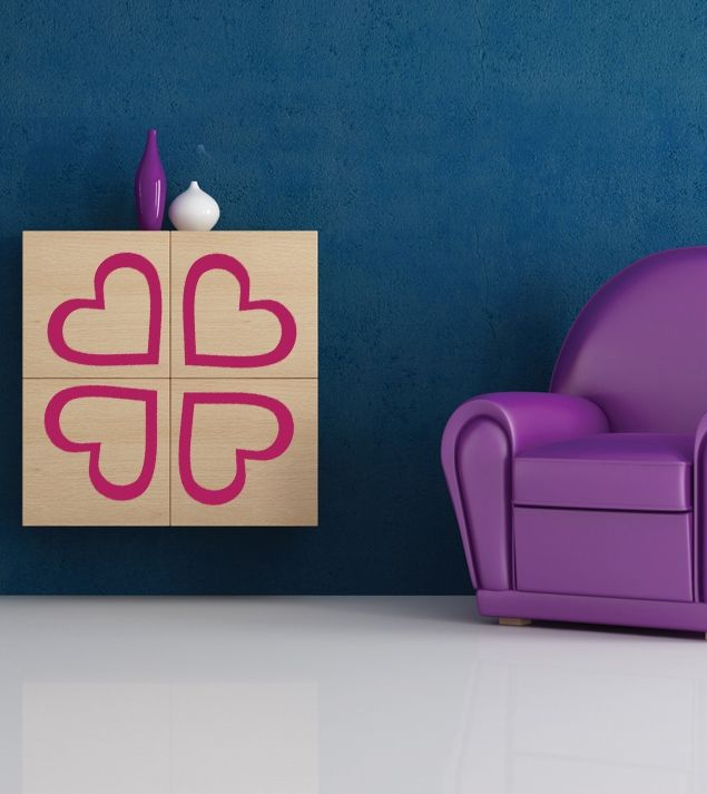 Sticker for furniture looks exactly as good as on wall! Try decorative decals on different surfaces