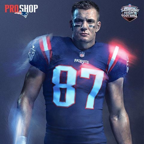 Our first new jersey since 2003.  Introducing the Patriots Color Rush uniform. #Colorrush #Patriots #Patsnation #Gronk