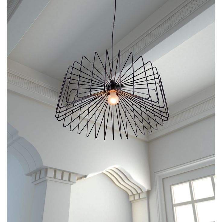 avant lighting. a sleek metal cage surrounds the single light bulb to add modern style this foehn avant lighting l