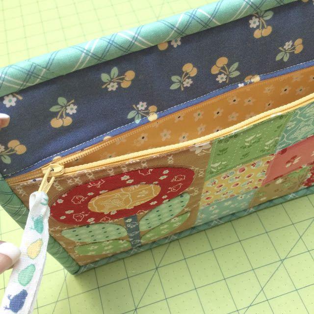 Bee In My Bonnet: New Tutorial - Quilty Zip Bag - Easiest Zipper Ever!
