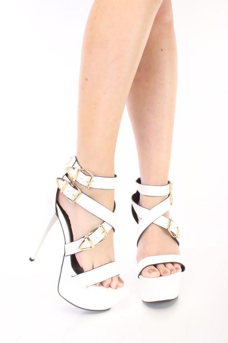 White 6 Inch Heels