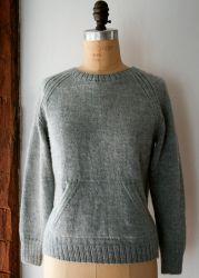 Пуловер кенгуру Sweatshirt, вязанный спицами по кругу без швов, с пошаговым описанием http://vjazhi.ru/jenskaya-vyazanaya-odejda-s-opisaniem/pulovery/pulover-kenguru-spicami-sweatshirt.html