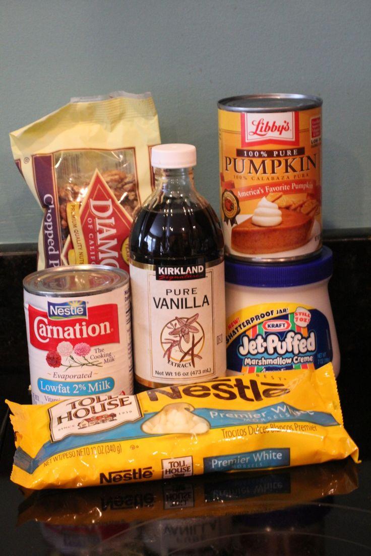 White Chocolate Pumpkin Fudge Recipe