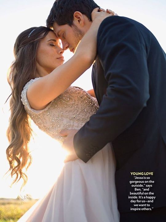 Jessa Duggar wedding dress love this picture... this pose is so romantic and intimate