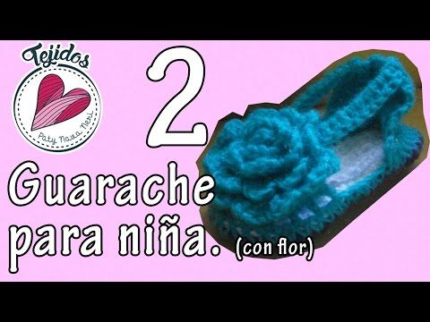 Huarache con flor para niña TUTORIAL Pt. 2/2 - YouTube